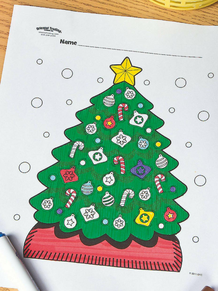 Coloring Pages : 50 Fantastic Christmas Tree Coloring Pages To ... | 1239x929
