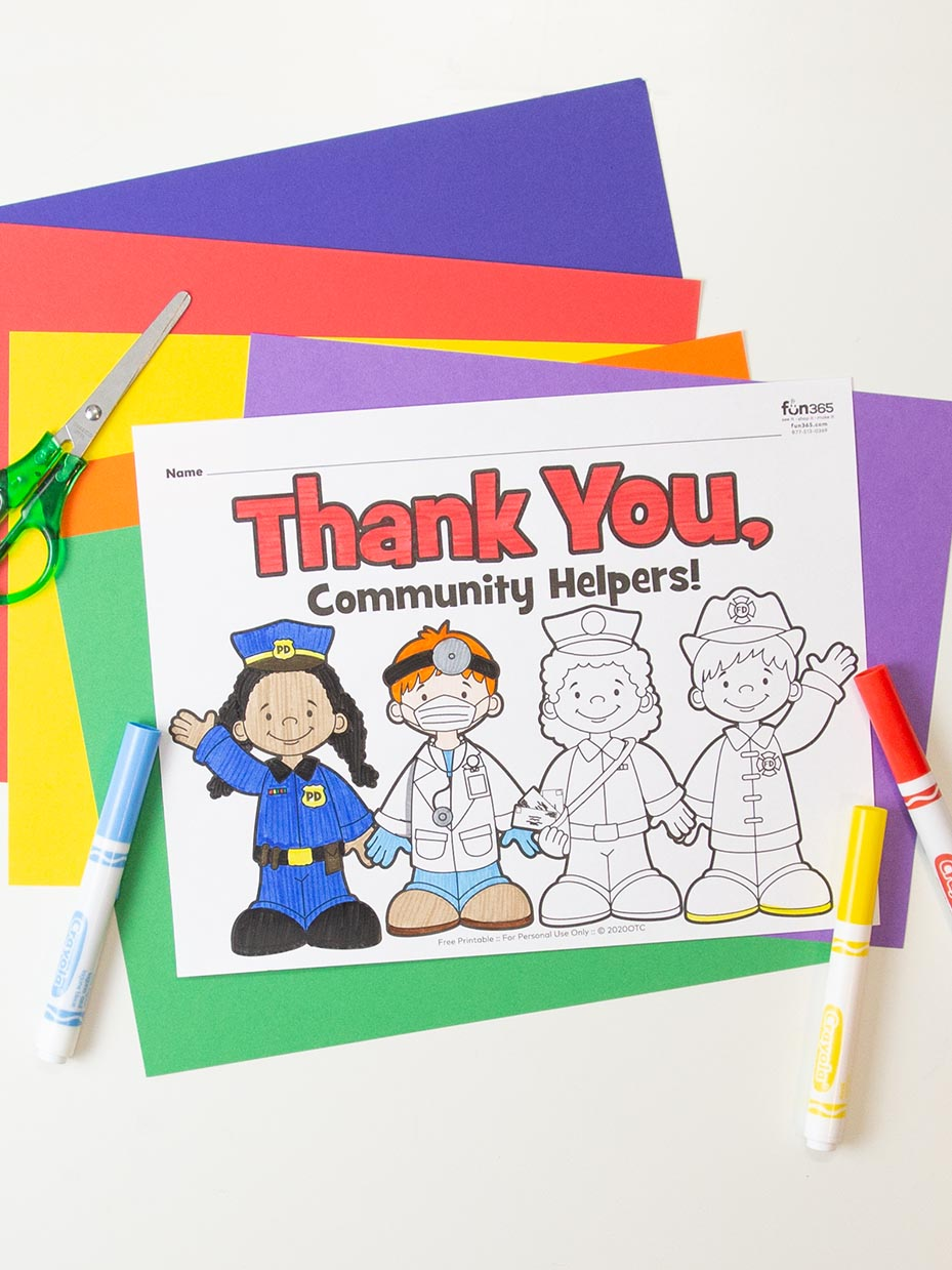 Community Helpers coloring page | Free Printable Coloring Pages | 1239x929