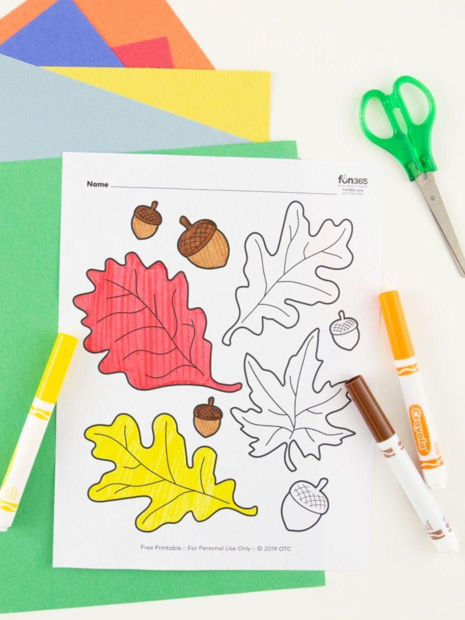 Fall | Free Coloring Pages | crayola.com | 1239x929