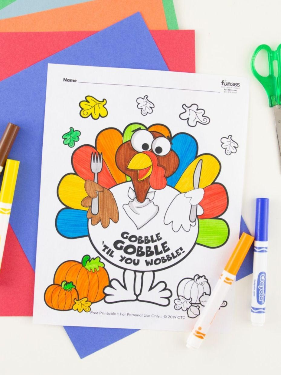 12 Free Fall Thanksgiving Coloring Pages For Kids Fun365