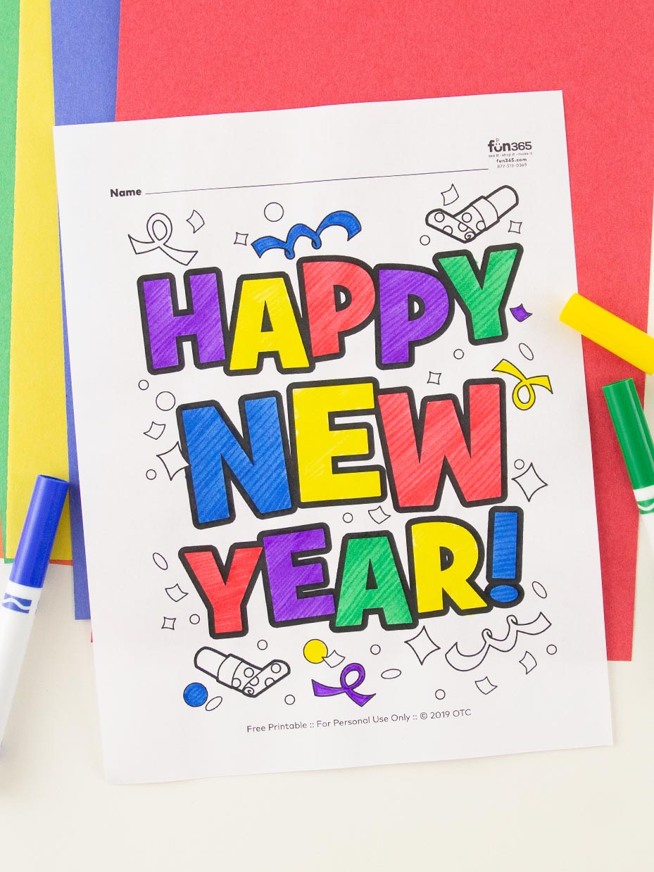 Happy new year coloring pages to download and print for free | New ... | 1239x929