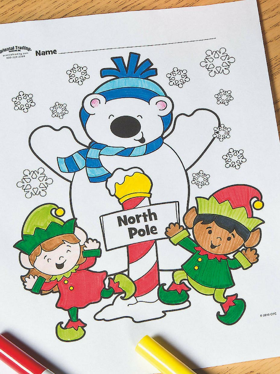 Free Christmas Coloring Pages  Fun9