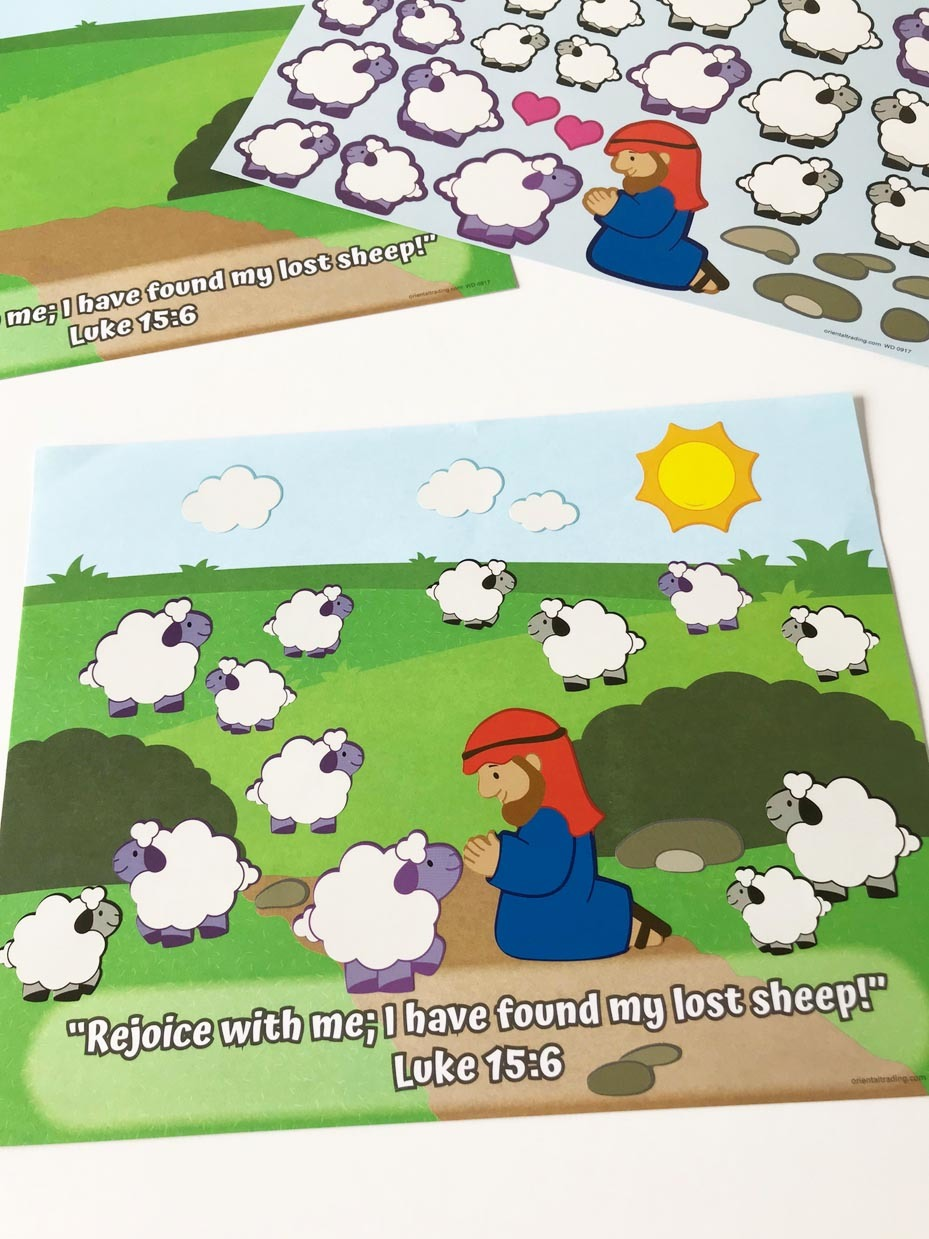 Sunday School Craft Kit Bible Craft kit FREE SHIPPING The Lost Sheep Craft Kit Craft Kit for Kids Luke 15:6 -