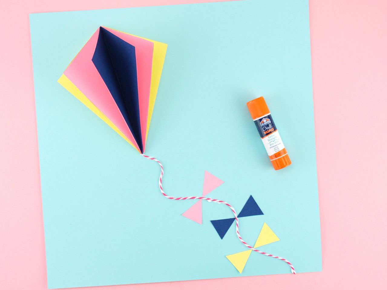 How to make a simple kite out of paper: A DIY activity for kids | 961x1279