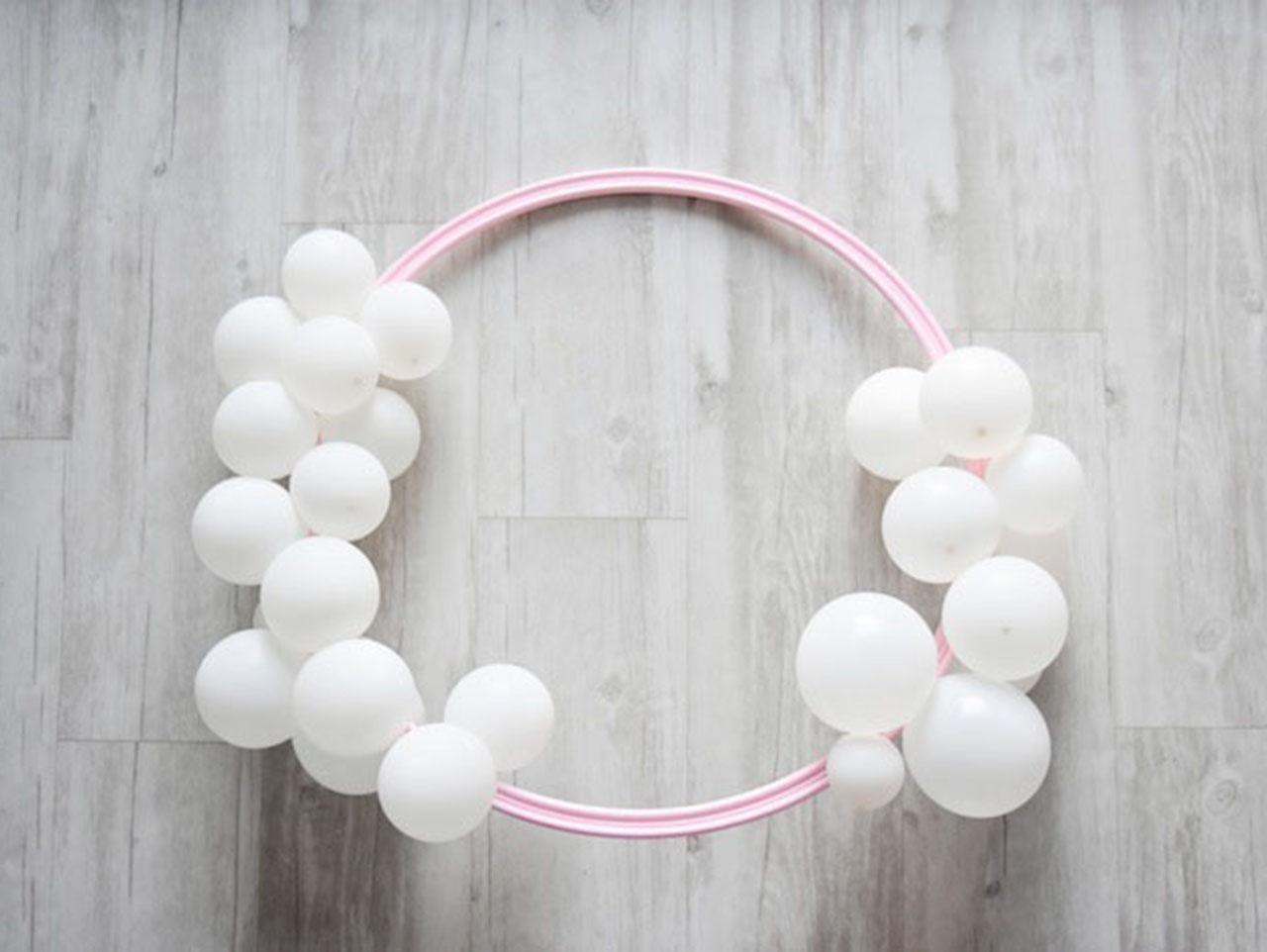 Diy First Birthday Balloon Wreath Fun365