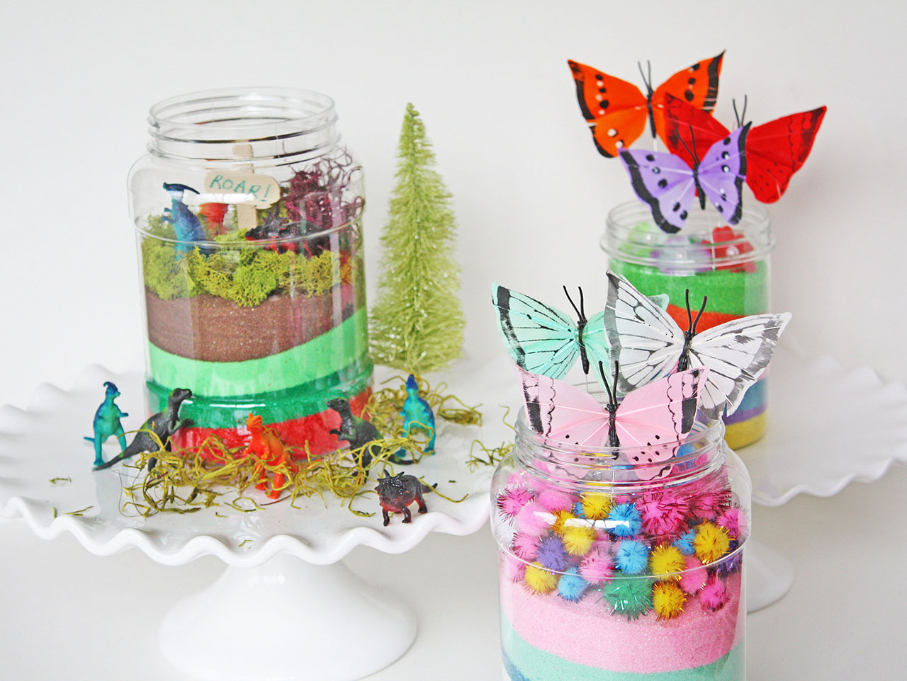 Diy Kids Terrariums Butterflies Dinosaurs Fun365