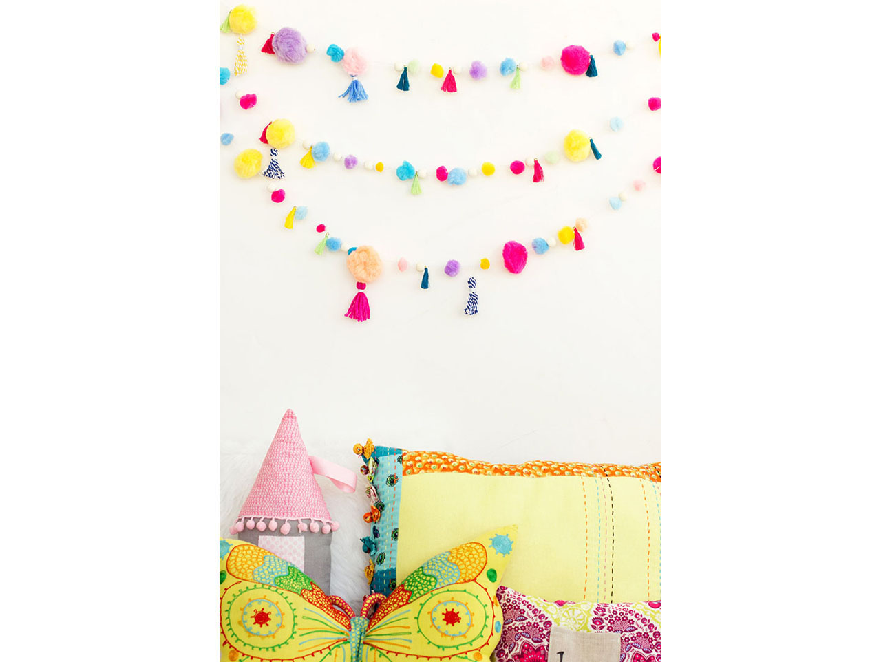 Diy Pom Pom Tassel Garland Fun365