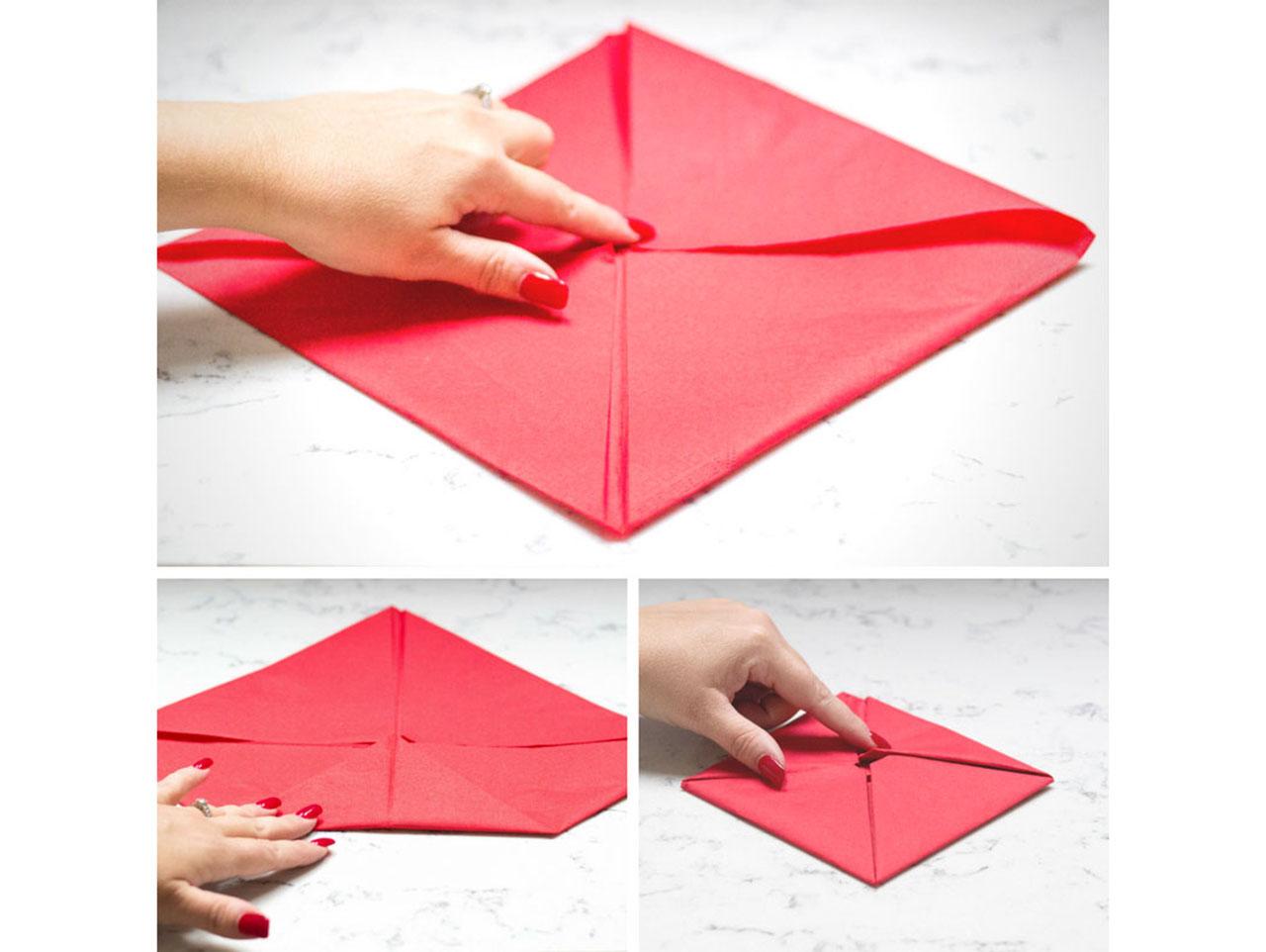 Lotus Flower Origami Folded Dinner Napkins Fun365