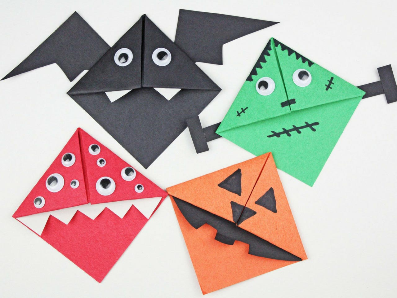 Halloween Origami Bat (first version) - Easy Origami Tutorial ... | 962x1280
