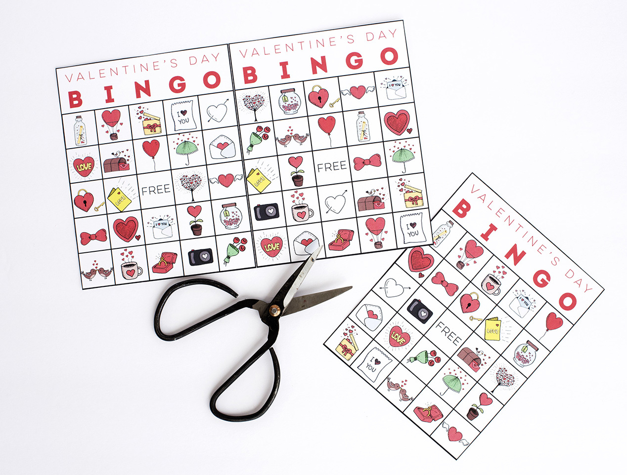 It is a picture of Printable Valentine Bingo Cards for 6th grader