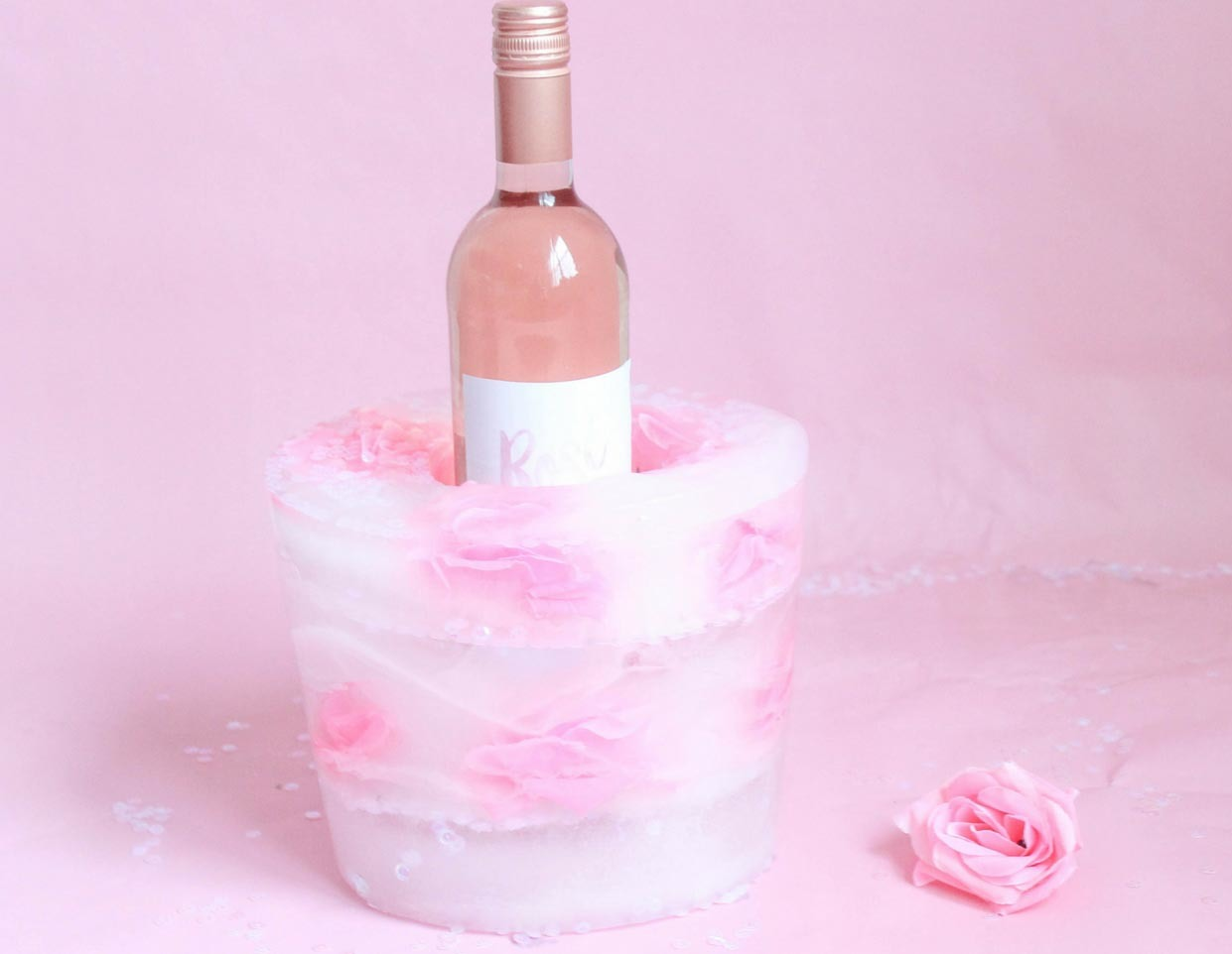 How To Make A Rose Floral Ice Bucket Fun365