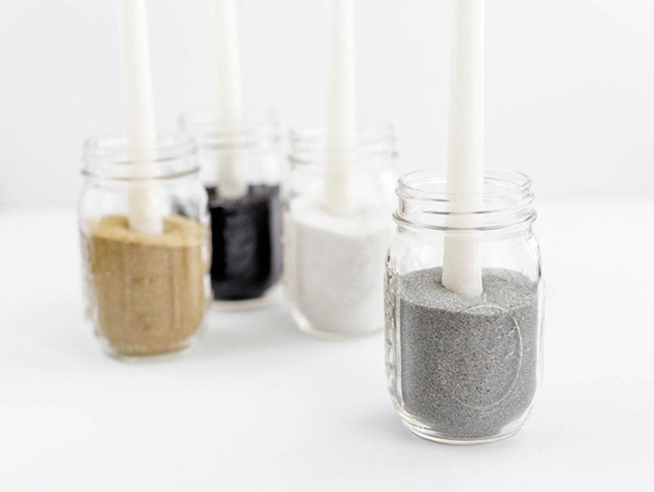 Diy Minimalist Mason Jar Candle Holder Fun365