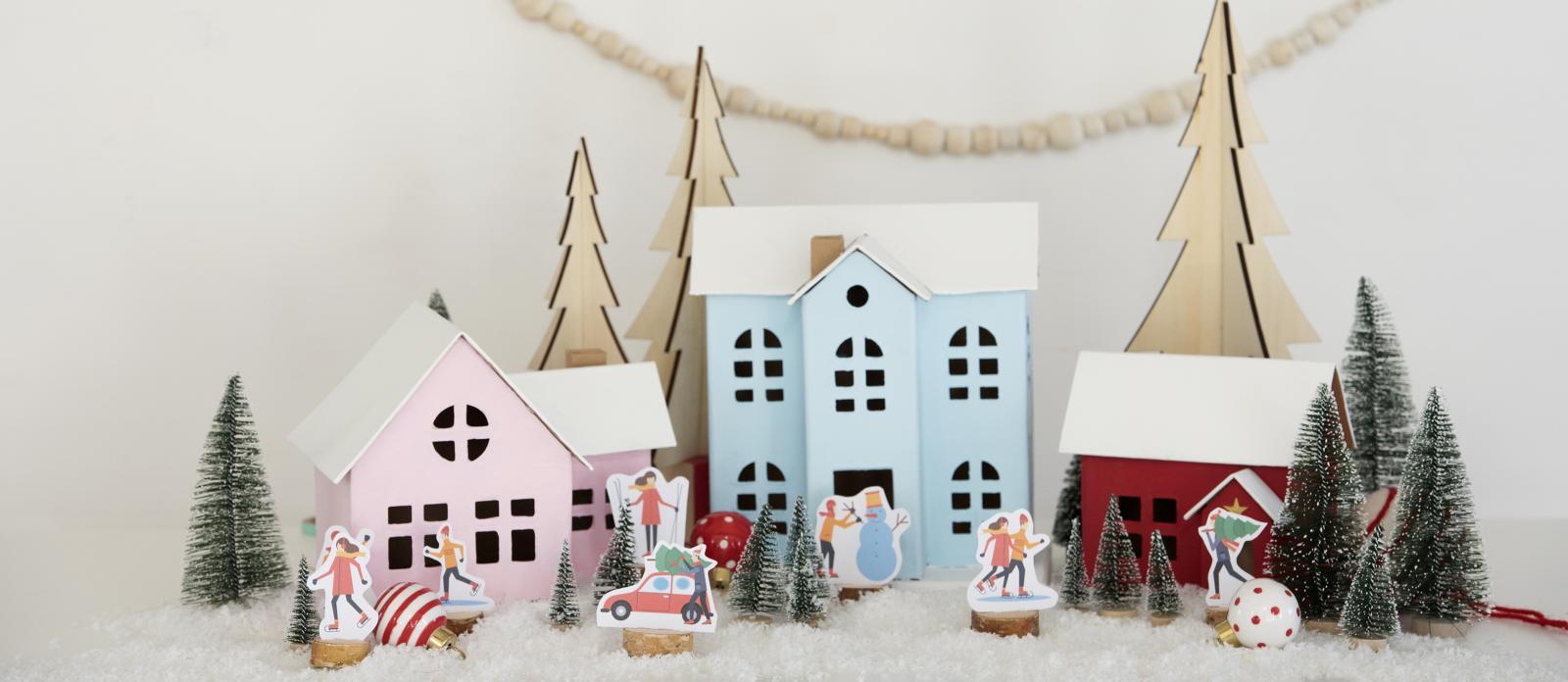 Diy Christmas Village Free Printables Fun365