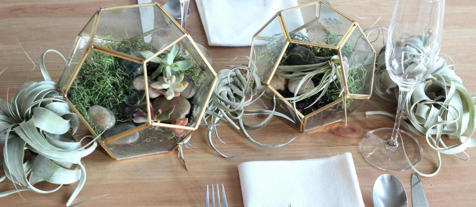Gold Geometric Terrarium Centerpiece Off 70 Buy