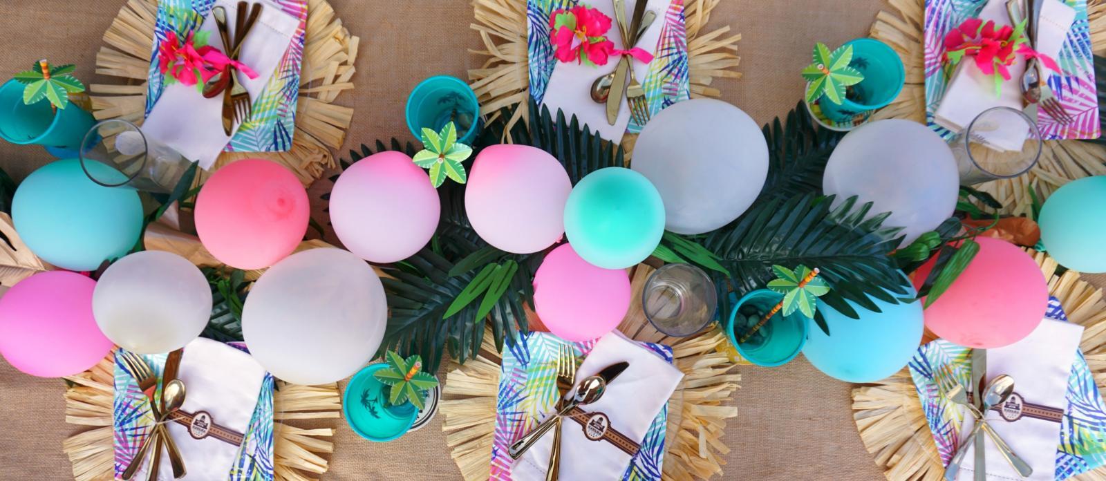 Diy Tropical Palm Frond Table Runner Garland Fun365