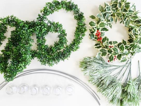 Diy Hanging Holiday Chandelier Fun365